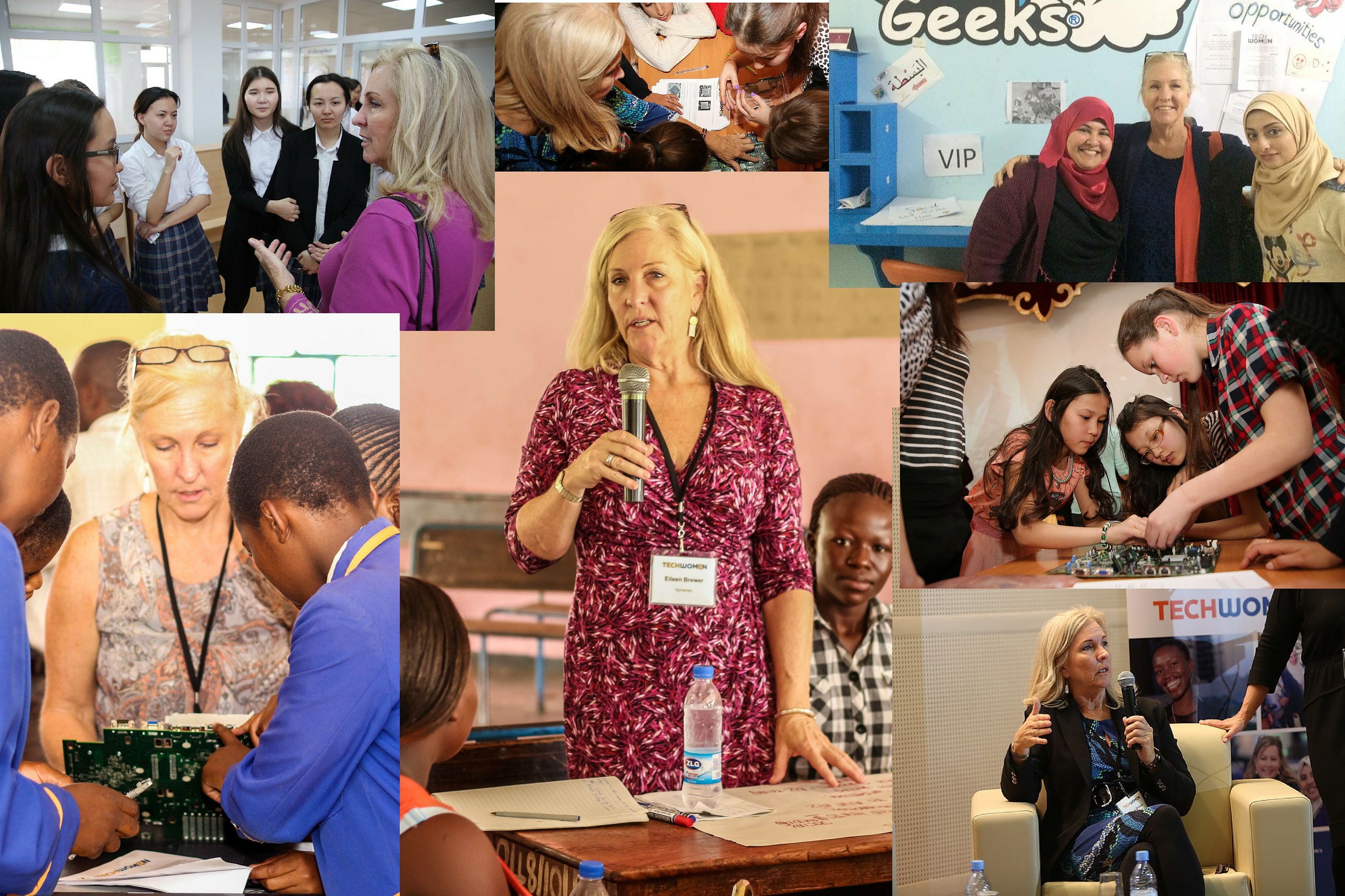 Eileen travels the world to help advance the status of women and girls.